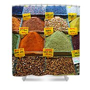 Grand Bazaar Spices In Istanbul Shower Curtain
