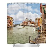 Grand Canal Apartment Shower Curtain