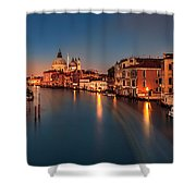 Grand Canal At Dusk Shower Curtain