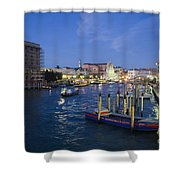 Grand Canal At Nigh Shower Curtain
