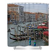 Grand Canal From Rialto Bridge Shower Curtain