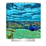 Grand Canyon # 7 - Hopi Point Shower Curtain