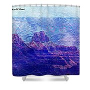 Grand Canyon As A Painting 2 Shower Curtain