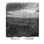 Grand Canyon Black And White Shower Curtain