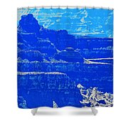 Grand Canyon Blues Shower Curtain