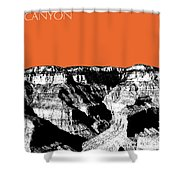 Grand Canyon - Coral Shower Curtain