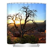 Grand Canyon Gathering The Light Shower Curtain