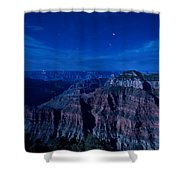 Grand Canyon In Moonlight Shower Curtain