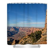 Grand Canyon National Park Mary Colter Designed Desert View Watchtower Near Sunset Shower Curtain