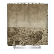 Grand Canyon National Park Mary Colter Designed Desert View Watchtower Vintage Shower Curtain