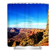 Grand Canyon National Park Mary Colter Designed Desert View Watchtower Vivid Shower Curtain
