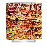 Grand Canyon Navajo Painting Shower Curtain