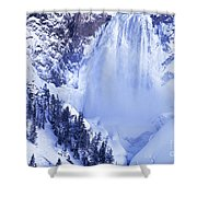 Grand Canyon Of The Yellowstone Yellowstone National Park Wyoming Shower Curtain