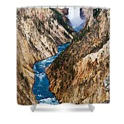Grand Canyon Of Yellowstone Shower Curtain by Bill Gallagher