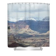 Grand Canyon Shadows And Snow Shower Curtain