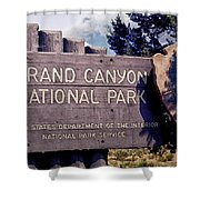 Grand Canyon Signage Shower Curtain