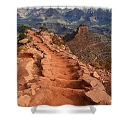 Grand Canyon South Kaibab Trail And Oneill Butte Vertical Shower Curtain