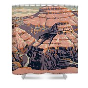 Grand Canyon Travel Poster 1938 Shower Curtain