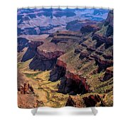 Grand Canyon Valley Trail Shower Curtain