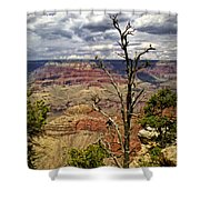 Grand Canyon View From The South Rim Shower Curtain