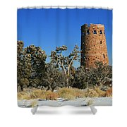 Grand Canyon Watch Tower Shower Curtain