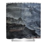 Grand Canyon Watercolor Shower Curtain