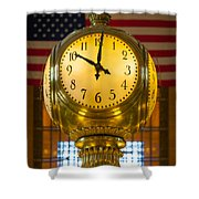 Grand Central Clock Shower Curtain