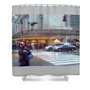 Grand Central Rain - 42nd Street Shower Curtain