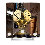 Grand Central Station Clock Shower Curtain