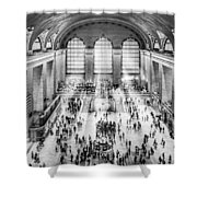Grand Central Terminal Birds Eye View I Bw Shower Curtain