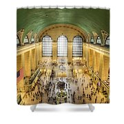 Grand Central Terminal Birds Eye View Shower Curtain