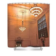 Grand Central Terminal Chandeliers Shower Curtain
