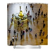 Grand Central Terminal Clock Birds Eye View  Shower Curtain