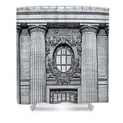 Grand Central Terminal Facade Bw Shower Curtain