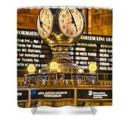 Grand Cerntral Terminal Clock No. 1 Shower Curtain