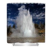 Grand Eruption Shower Curtain