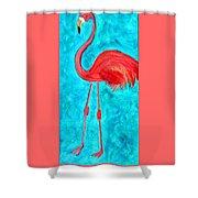 Grand Flamingo Shower Curtain