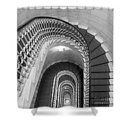 Grand Flora Stairwell Rome Italy Shower Curtain