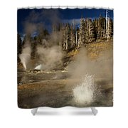 Grand Geyser Group Shower Curtain
