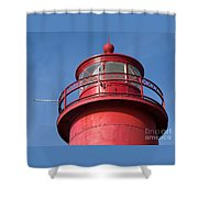 Grand Haven Red Shower Curtain