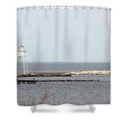 Grand Marais Light Shower Curtain