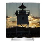 Grand Marais Mn Lighthouse 6 Shower Curtain