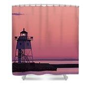 Grand Marais Mn Lighthouse 8 Shower Curtain