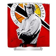 Grand Master Helio Gracie Shower Curtain