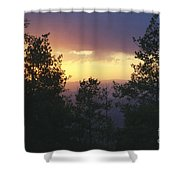 Grand Mesa Sunset Shower Curtain
