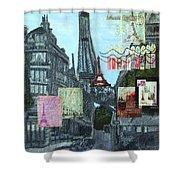 Grand Ole Paris-postcard From Paris Shower Curtain