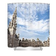 Grand Place In Brussels Belgium Shower Curtain