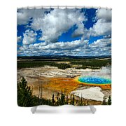 Grand Prismatic Pool Yellowstone National Park Shower Curtain