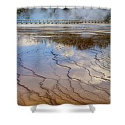 Grand Prismatic Runoff - Yellowstone Shower Curtain