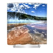Grand Prismatic Spring - Yellowstone Shower Curtain